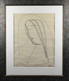 The Nun, Charcoal Drawing by Etienne Poirier