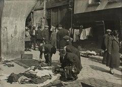Paris, rue St Medard, Bric-a-Brac Merchants  - Silver Gelatin B & W Photograph