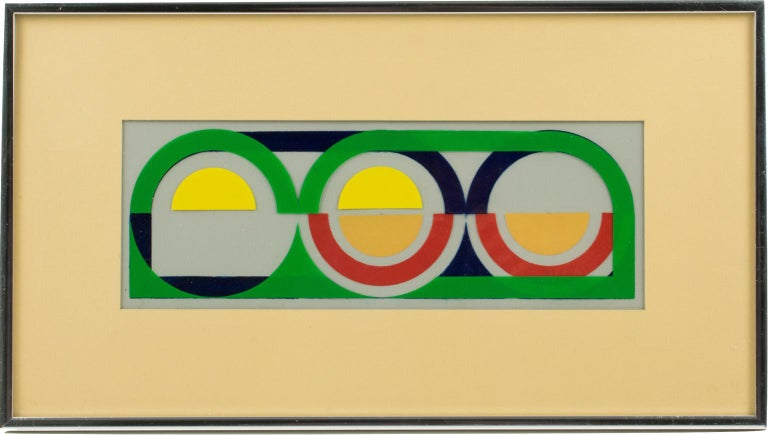 Multicolor Geometric Painting by Donna Filler, a triptych For Sale 6