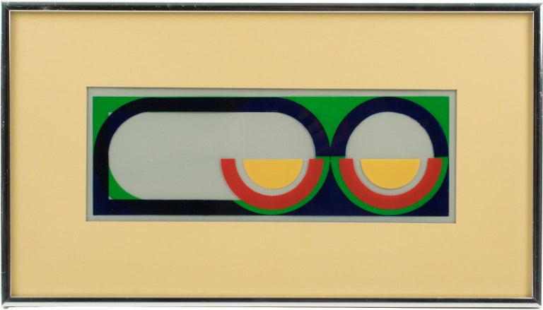 Multicolor Geometric Painting by Donna Filler, a triptych For Sale 7