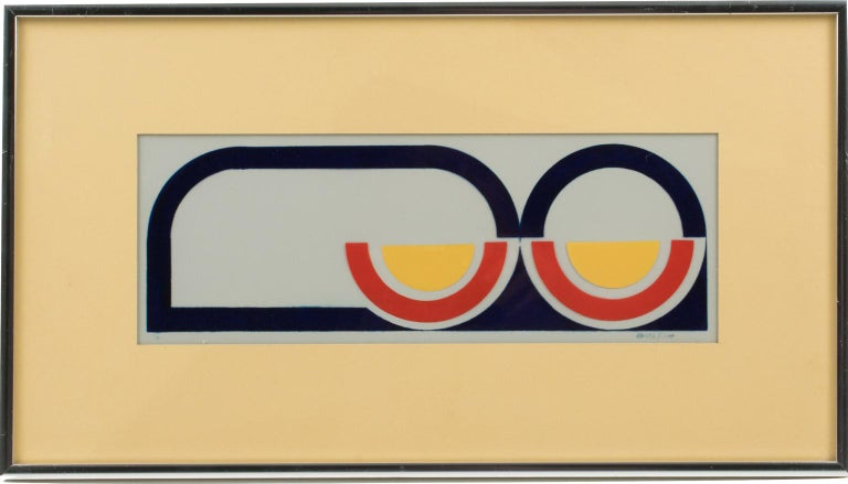 Multicolor Geometric Painting by Donna Filler, a triptych For Sale 8
