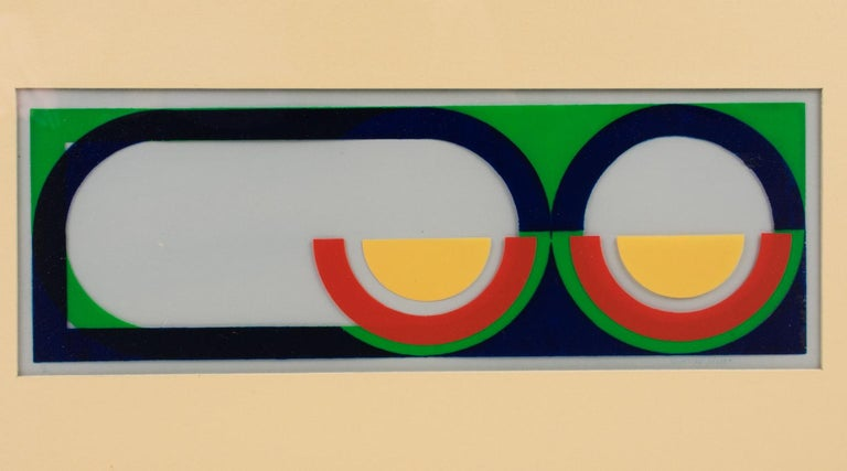 Multicolor Geometric Painting by Donna Filler, a triptych For Sale 14