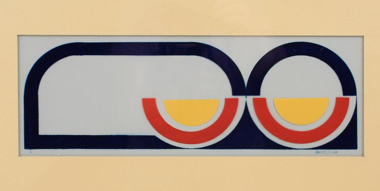 Multicolor Geometric Painting by Donna Filler, a triptych For Sale 15