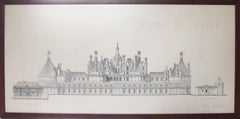 Original Architecture Sketches Study Drawing for French Renaissance Buildings