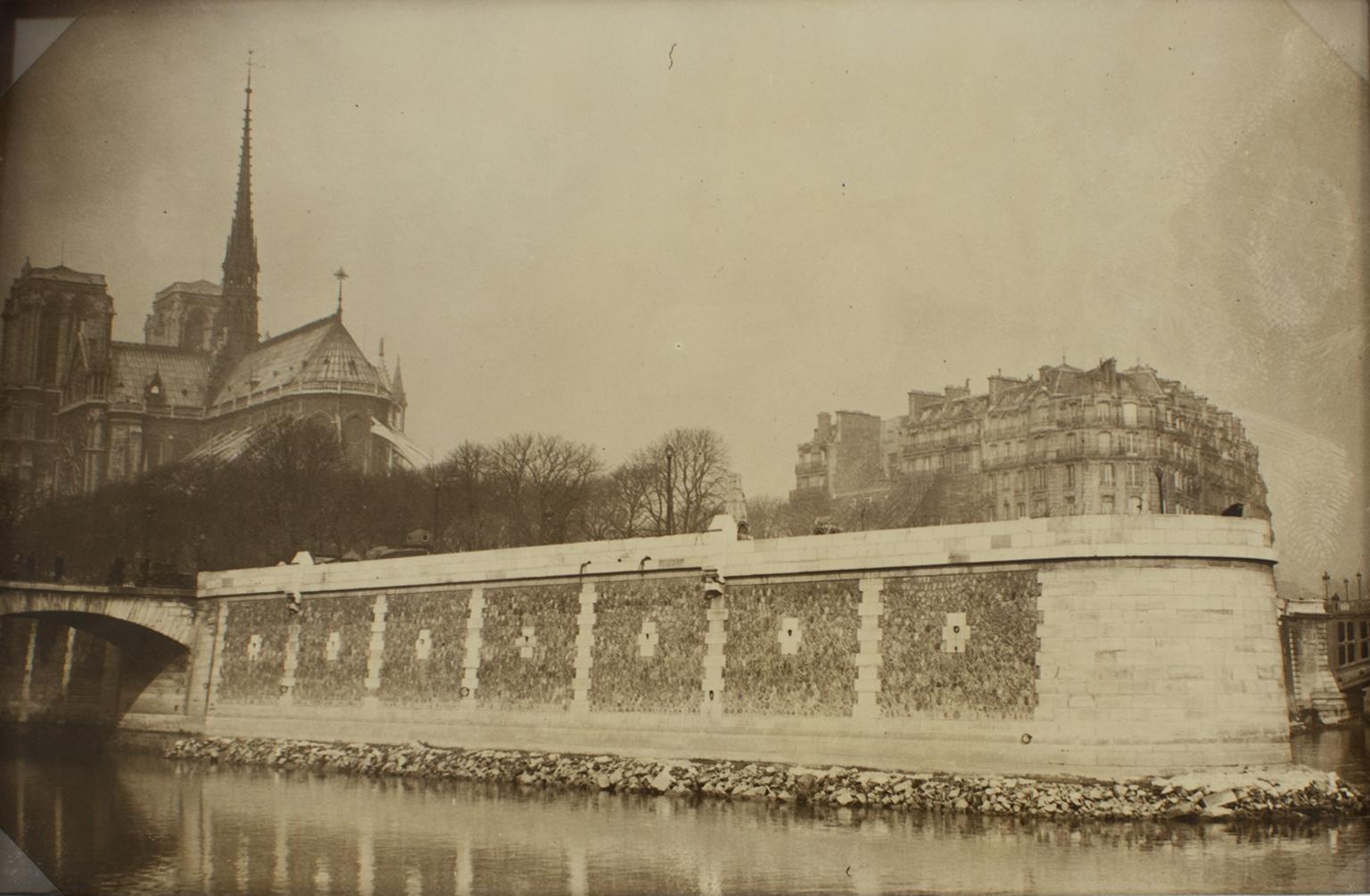 Notre Dame Cathedral and Ile de la cité  - Silver Gelatin B and W Photograph