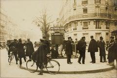 Policemen in Paris circa 1930 - Silver Gelatin Black & White Photograph