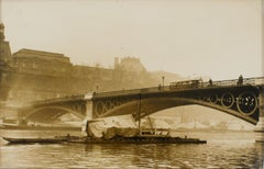 Paris, Carrousel Bridge circa 1930 - Silver Gelatin Black & White Photograph