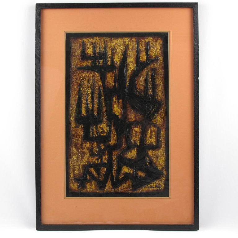 American Brutalist Abstract Mix-Media Painting by Canthi For Sale 3