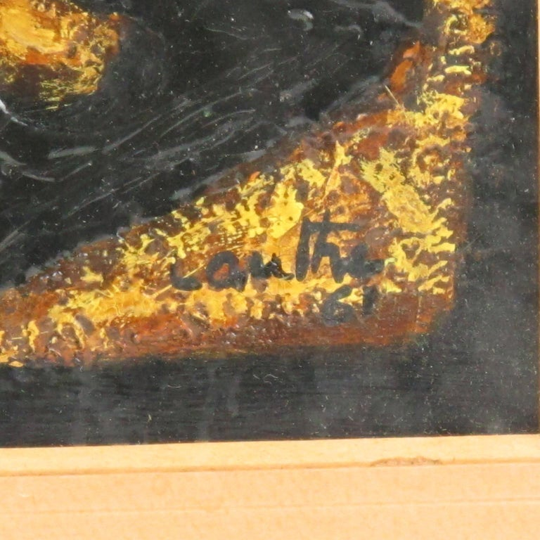 American Brutalist Abstract Mix-Media Painting by Canthi For Sale 4