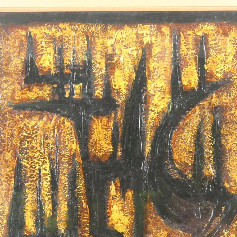 American Brutalist Abstract Mix-Media Painting by Canthi For Sale 6