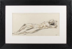 Nude Study Ink Wash Drawing Painting by Robert Cami