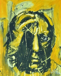 "Luis Miguel Valdes, ""Picasso"" II, acrylic on canvas, Cuban art, portrait Pablo"