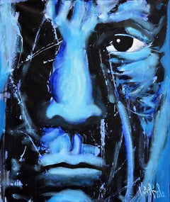 "Luis Miguel Valdes, ""Picasso"" IV, acrylic on canvas, Cuban art, portrait Pablo"