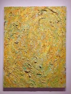 """""""Sanibel Tide"""" mixed media, oil paint, silk paper by Anne Novado"""