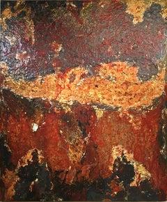 """""""Furnas Sao Miguel"""" acrylic on cotton canvas by Anne Novado"""
