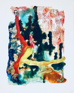 """Work n. 3 from series 10.8 """"Vitae Aqueous"""" by Azarezart, fluid acrylic"""