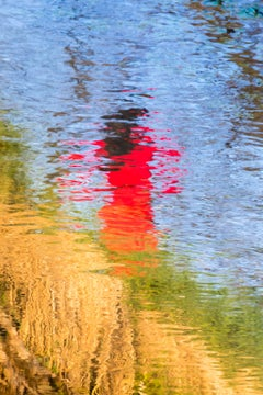 "The Lady In Red (60 x 40"") - Album: AQUA - Water Reflections - Abstract"