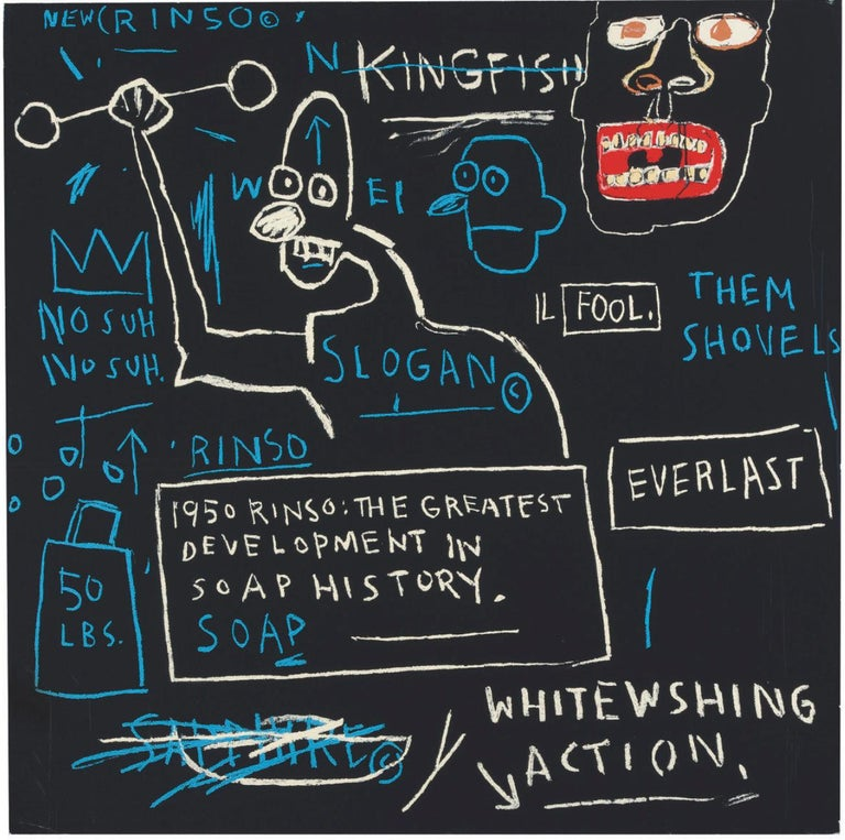Jean-Michel Basquiat, <i>Rinso</i>, 1982/2001, offered by McClain Gallery
