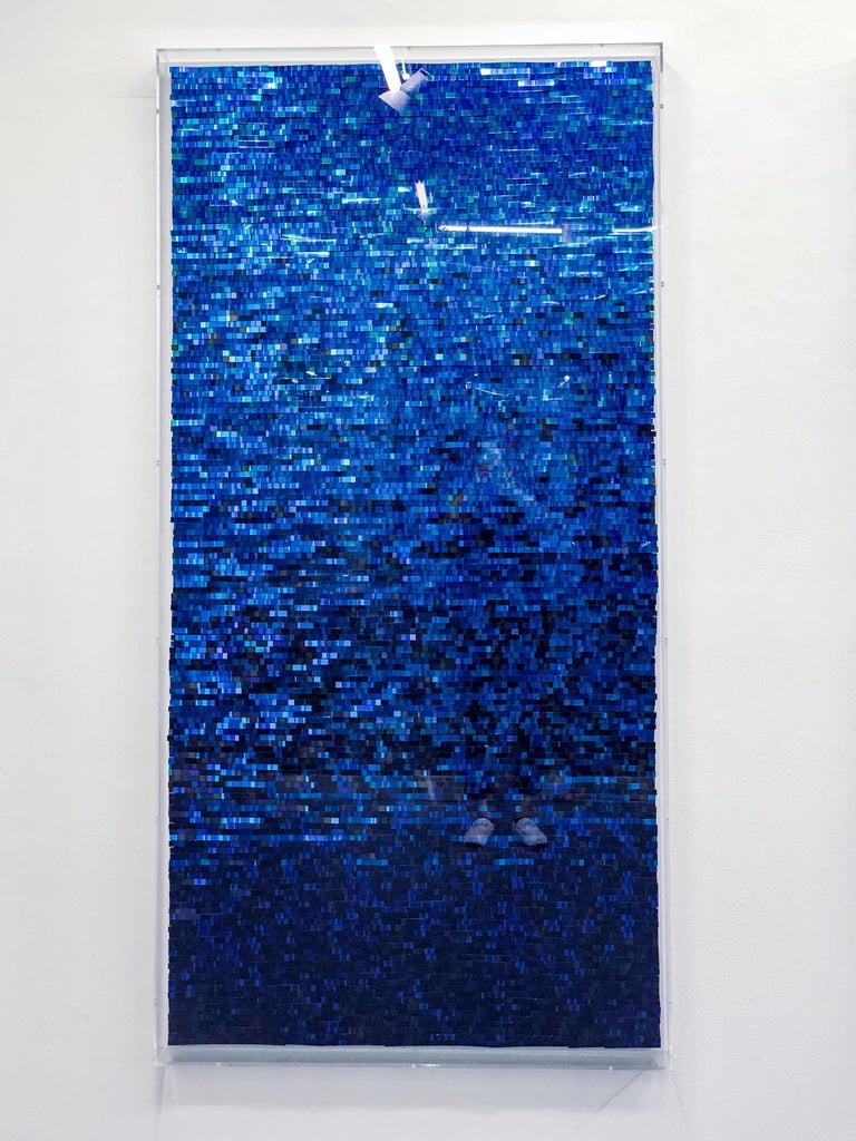 Katsumi Hayakawa, Blue Reflection, Mixed Media, 2018; mirrored surfaces, paper - Contemporary Mixed Media Art by Katsumi Hayakawa