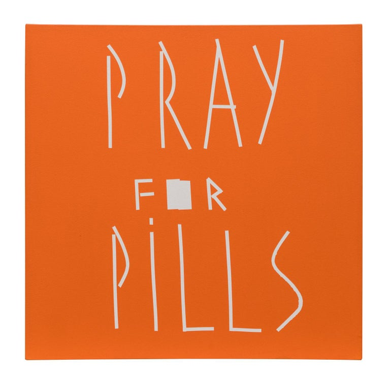 Jeff Elrod, Pray for Pills, Acrylic on Canvas, 2003 - Painting by Jeff Elrod