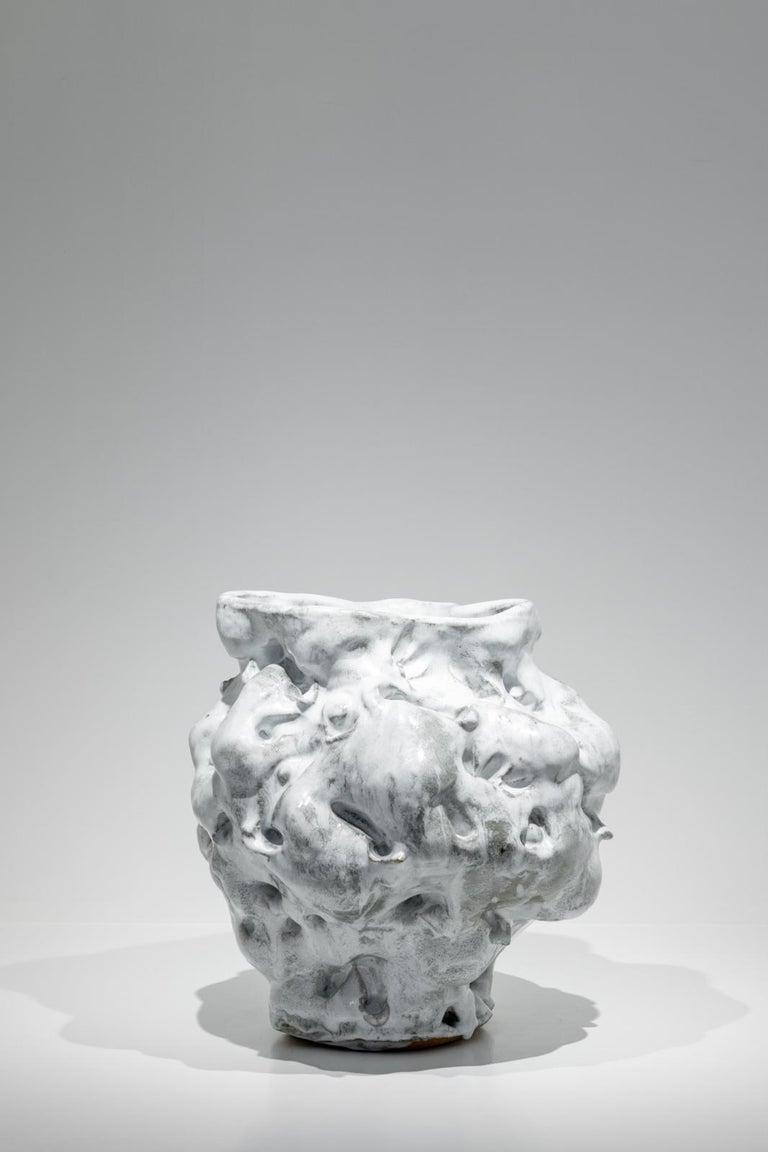 Donna Green, Cumulus, Glazed Stoneware Vessel, 2018 - Sculpture by Donna Green