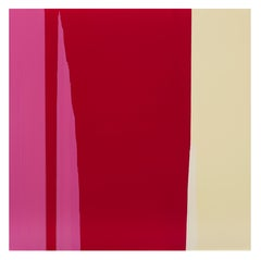 Rachel Howard, Untitled, paint on canvas, abstract painting in red, pink, cream