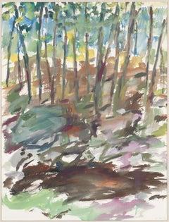 Elaine de Kooning, Catskill Series, Watercolor on Paper, 1965