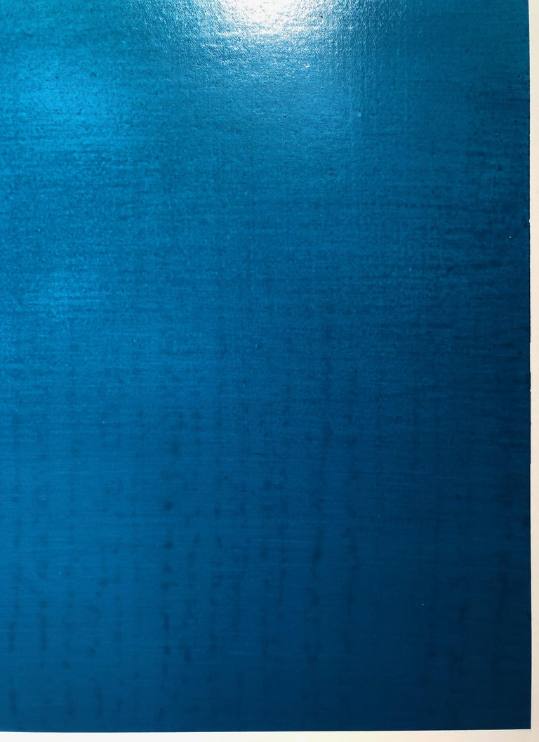 Katsumi Hayakawa, 1・2・3 (Blue No. 1 - 3), Acrylic on Paper and Wood Panel, 2017 For Sale 4