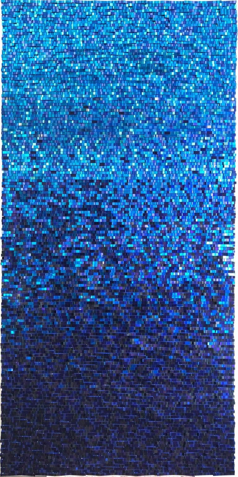 Katsumi Hayakawa, Blue Reflection, Mixed Media, 2018; mirrored surfaces, paper - Mixed Media Art by Katsumi Hayakawa
