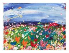 Brendan Cass, Epe, Acrylic on Canvas, 2008, landscape painting, tulip field