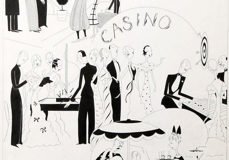 Casino - Art Deco Art by Anne Harriet (Sefton) Fish