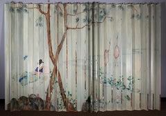 Orientalist Painted Folding Screen