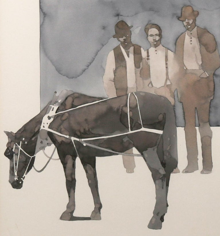 Up from Slavery - Gray Animal Art by Bart Forbes