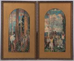 Allegorical Hunters & Gatherers Diptych