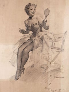 Miss Sylvania 1955 Preliminary Sketch