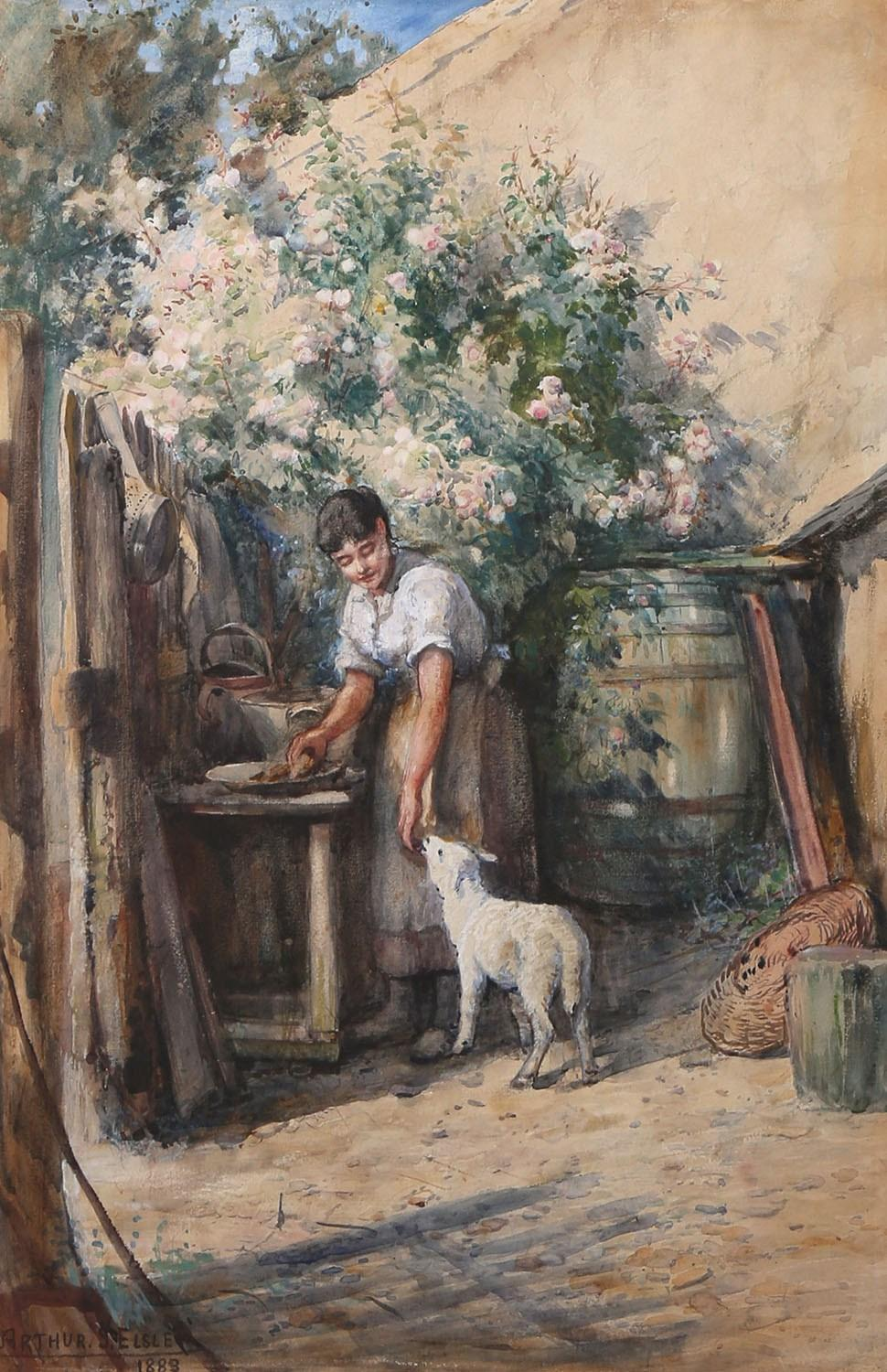 Maiden with Lamb