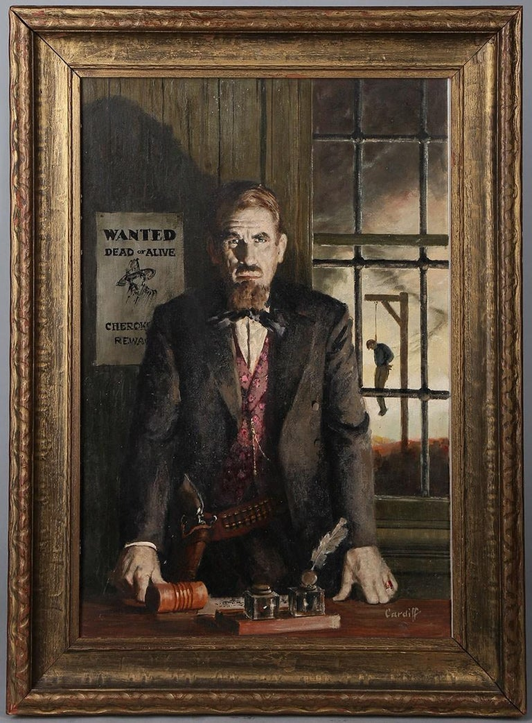 Wanted Dead or Alive - American Realist Painting by Richard Cardiff