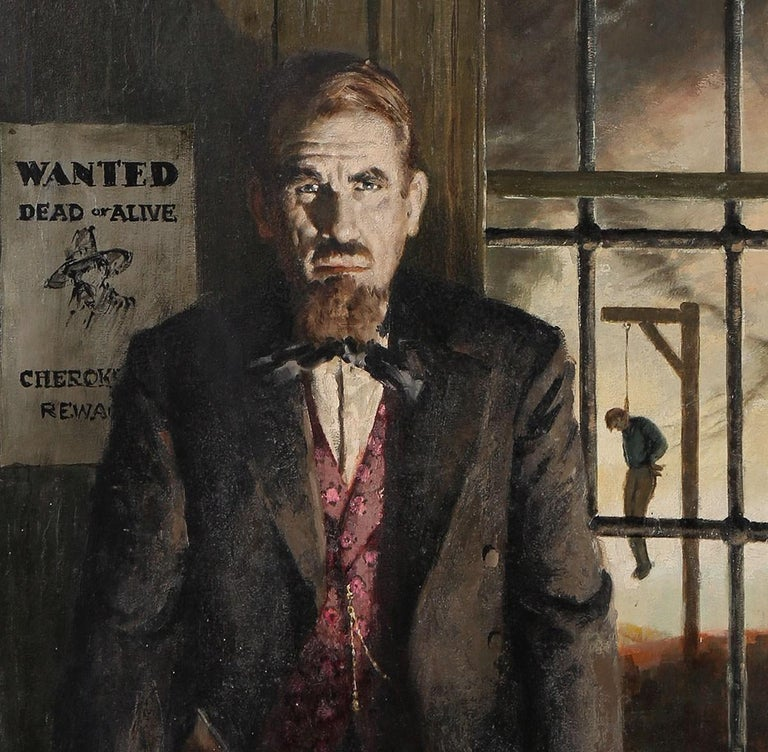 Wanted Dead or Alive - Black Figurative Painting by Richard Cardiff