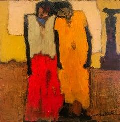"Goli Mahallati ""Innocent Hearts"" Oil on Canvas Figurative Painting"