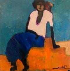 """Goli Mahallati """"Promise of Sunrise"""" Oil on Canvas Figurative Painting"""