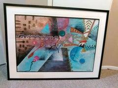 """Contemporary Mixed Media """"Double Flint"""" by Marlene Healey"""
