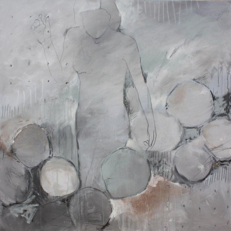 Sheryl Daane Chesnut Figurative Painting - Silver Lining Epiphany