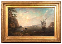 18th Century Italian Landscape Painting Attributed to William Marlow
