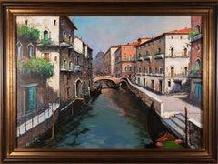 Oil Painting 'Venetian Scene' by Antonio Ianicelli, Italy, circa 2012