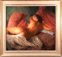 Nude Oil Painting of a Lady by Gennaro Odore