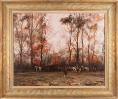 Hunting  Landscape Painting  'The Fernie Hunt' by Sam Marriott