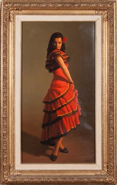 Portrait Painting of a Spanish Dancer by Reza Samimi