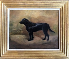 Black Labrador Rare Painting by Ivester Lloyd