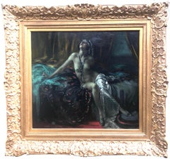 Nude by Arnulf De Bouche circa 1920. Oil Painting