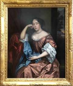 Portrait of a Lady,  After Sir Peter Lely (1610-1680) Oil Painting
